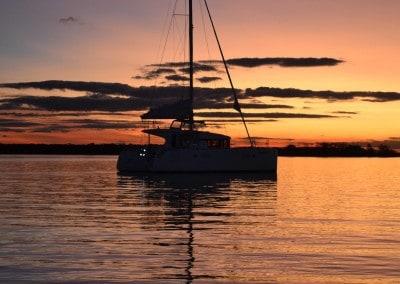Lagoon 39 at sunset
