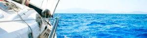 Sailing on blue wate